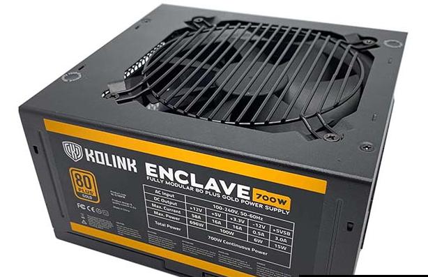 Kolink Enclave 80 Plus Gold 700W PSU评论