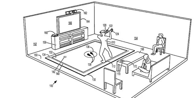 Microsoft虚拟现实地板垫的专利