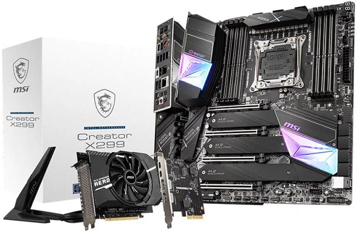 微星发布适用于Intel Core-X CPU的X299 Creator发烧级主板