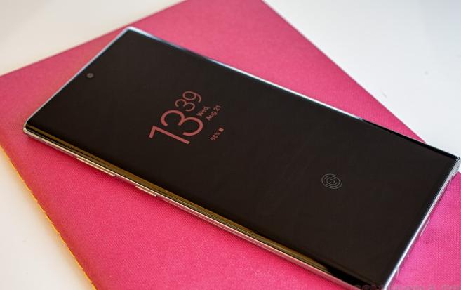 三星Galaxy Note10+5G得到更新 可能是指纹问题修复