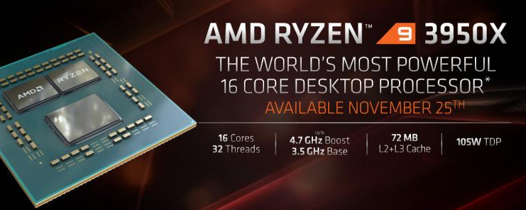 AMD推出Ryzen 9 3950X和Athlon 3000G处理器