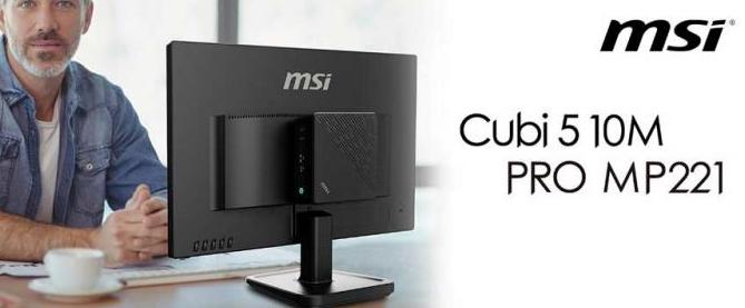 微星展示Cubi510MMini-PC和PROMP221MonitorDuo