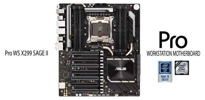 华硕在工作站级X299系列中增加了Pro WS X299 SAGE II主板