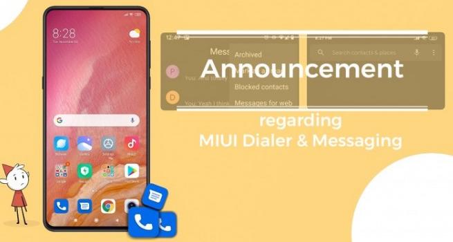 小米将继续在全球设备上预安装Google的电话和消息应用