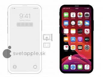 iPhone 12渲染使我们瞥见了可能的无缺口设计
