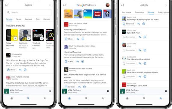 Google Podcasts现在向制作人提供分析