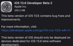 ios系统知识:iOS13.6Beta2描述文件下载 苹果iOS13.6开发版描述文件在哪下载