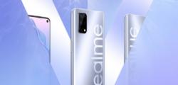 realme真我V5智能手机配备了一块6.5英寸高刷LCD打孔屏