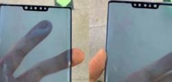 华为Mate 30 Pro智能手机保持广泛的缺口