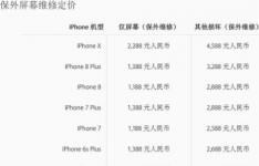 iphonex换屏幕多少钱 iphonex碎屏维修报价