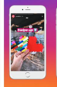 Instagram为智能手机开发垂直对齐的故事