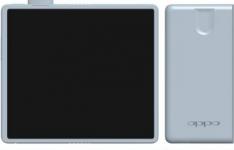 OPPO可折叠手机渲染显示弹出式摄像头
