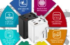 Qcharger65WGaN袖珍充电器可同时提供八种充电功能