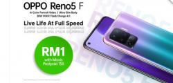 通过MaxisPostpaid158您可以以低至RM1的价格获得OPPOReno5F智能手机