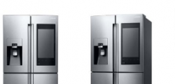 三星在拉斯维加斯推出新的FamilyHub智能冰箱