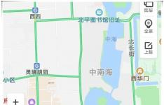 科技教程:百度地图App中怎么查看卫星图和热力图